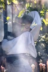 Through the Window (Claude Schildknecht) Tags: beauty europe france girl lyon maïlys parcdelatêtedor places portrait shooting young art artist artwork white blonde mood greenhouse green spring beautiful natural light