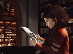 Archives (CharlieMerle) Tags: arabellanoir gryffindor dailyprophet noir secondlife harrypotter harrypottersl hogwarts hogwartssl mischiefmanagedsl mischiefmanaged portrait rppost