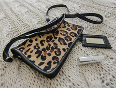 Wild Thing (daisyglade) Tags: handbag animalprint faux lipstick mirror home humanmagpie eclectic wildthing shiny glitter
