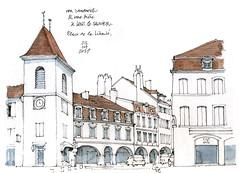 Lons-le-Saunier (gerard michel) Tags: france franchecomté architecture rue sketch croquis rhônealpes