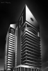 Ufone Tower (Aadilsphotography) Tags: building architecture ufone tower aadils photography fine art black white canon wide angle shades grey islamabad architectural