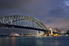 The Most Beautiful City in the World (parkerbernd) Tags: sydney harbour bridge opera house blue hour twilight dusk clouds skyline street city lights illuminated australia nsw lumix gx9 tourist attraction long exposure le shot night