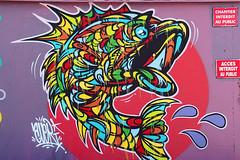 Acces interdit (Arnadel) Tags: tag streetart bretagne stbrieuc port