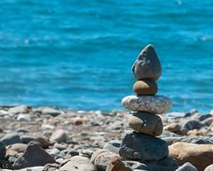 summer time (lauracastillo5) Tags: blue summer ocean sea seascape beach rock rocks seashore shoreline sand outdoors sun morning