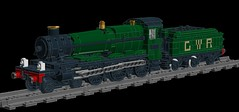 Manor Class WIP 5 (technoandrew) Tags: lego manor class steam locomotive engine train railway rolling stock wip work progress ldd digital design designer gwr great western british 460 green