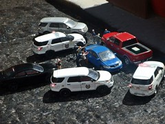 May 1st 2019 bust . (THE RANGE PRODUCTIONS) Tags: greenlight fordpoliceinterceptorutility ram2500 dioramas diecast diecastdioramas toy model dodgechargerpursuit dodge honda hoscalefigures