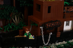The Lost Heart of El Dorado (The Nelly) (GoodmanLegoDesigns) Tags: lego custom boat diorama south america river riverboat amazon upriver up map joe hurricane adventure adventurers themes jungle temple rain forest rainforest palm tree dr doctor francis leopold story chapter one 1 indiana jones heart darkness lost el dorado