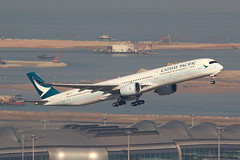 B-LXC, Airbus A350-1000, Cathay Pacific, Hong Kong (ColinParker777) Tags: airbus a350 a3501000 a3501041 a35j a35k airliner airplane aeroplane plane aircraft fly flying flight travel takeoff depart departure cx cpa cathay pacific airways airlines air hkg vhhh hong kong chek lap kok airport hksar barges ships ship reclamation water ocean sea river delta pearl 3rd runway terminal canon 7d 7d2 7dmk2 7dmkii 7dii 200400 lens l zoom telephoto pro blxc 188