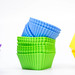 Color ruber cupcake liners