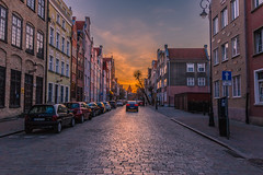 Sunset in Gdansk (Vagelis Pikoulas) Tags: poland europe travel sun sunset gdansk view landscape city cityscape urban light lights lightroom canon 6d tokina 1628mm april spring 2019