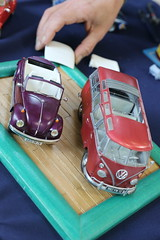 Volkswagen Combi + Coccinelle - 1/24 (CHRISTOPHE CHAMPAGNE) Tags: 2019 france charly marne exposition maquette volkswagen beetle kafer coccinelle 124 combi