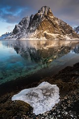 Iceberg (melvinjonker) Tags: winter nature landscape snow mountain ice norway lofoten iceberg