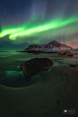 Aurora madness (melvinjonker) Tags: snow ice winter beach nature landscape noorderlicht northernlights aurora lofoten norway