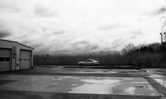 Ring's Island (neilsonabeel) Tags: contaxrts contax zeiss blackandwhite film analogue massachusetts newengland car cloud sky ma ringsisland yashica
