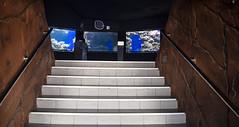 (Cindy en Israel) Tags: escalera escalones acuario pareja azul baranda paredes eilat israel viaje paseo turismo travel tour