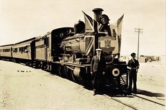 Africa Railways - South African Railways - Official opening of the Orange River railway bridge (HISTORICAL RAILWAY IMAGES) Tags: train railway africa rsa southafrica clerestory upington northerncape clerestorycoachsasstock sassar