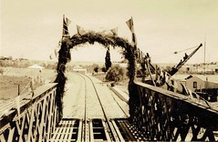 Africa Railways - South African Railways - Official opening of the Orange River railway bridge (HISTORICAL RAILWAY IMAGES) Tags: train railway africa rsa southafrica upington northerncape