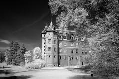 Goluchow Castle (RafalZych) Tags: gołuchów goluchow zamek castle pałac czartoryskich infrared ir hoya r72 fuji fujifilm xt100 black white greater poland polska