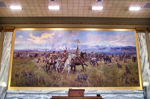 Helena Montana - House of Representatives - Lewis and Clark Meeting Indians at Ross' Hole