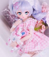Cute maid!! (assamcat) Tags: mdd dd minidollfiedream volks dollfiedream bjd ddh01 ddh01custom pokémon sylveon