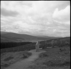 Scottish Highlands (AJH_1) Tags: tmax 100iso zeiss ikon nettar 120 roll film scotland highlands landscape uk view mountains monochrome black white bw