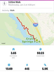 #Walking #SawyerCampTrail in #SanMateo #California (Σταύρος) Tags: lowercrystalspringsreservoir cali norcal wednesdayjanuary2 distance duration crystalspringspark walk crystalsprings statistics map exercise mapmywalk walking sawyercamptrail sanmateo california kalifornien californië kalifornia καλιφόρνια カリフォルニア州 캘리포니아 주 californie northerncalifornia カリフォルニア 加州 калифорния แคลิฟอร์เนีย كاليفورنيا