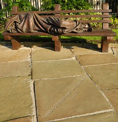 0313  © Kevin A Urquhart  Photography (ElitePhotobox2) Tags: taken garden liverpools anglican parish church our lady saint nicholas the site is said have been place worship since least 1257 homeless jesus sculpture timothy schmalz