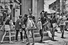 Shopping (Beegee49) Tags: street people shopping balckandwhite monochrome bw sony bacolod city philippines asia happyplanet asiafavorites