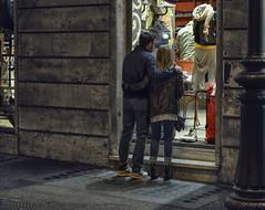 Window Shopping (Paul B0udreau) Tags: nikkor50mm18 photoshop canada ontario paulboudreauphotography niagara d5100 nikon nikond5100 raw layer italia italy roma nighttime lights people store