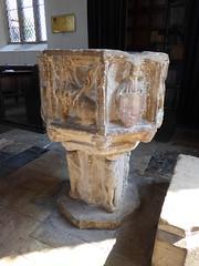 Font, Walberswick (Aidan McRae Thomson) Tags: walberswick church suffolk medieval font carving