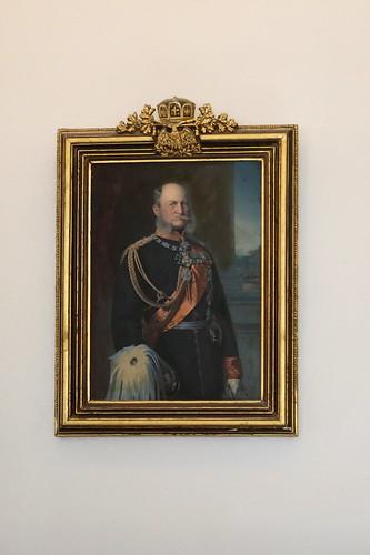Königswinter: Portrait von Kaiser Wilhelm I. in der Vorburg von Schloss Drachenburg