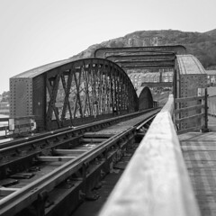 Iron Bridge (Howie Mudge LRPS BPE1*) Tags: barmouthbridge mamiyac220professional fomapan400 epsonv800 kodakhc110 selfdevelop 120film mediumformat tlr twinlensreflex 6x6 squareformat analog film