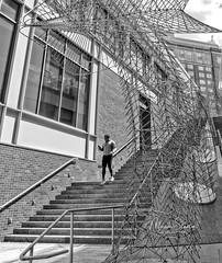 Take the steps (mgstanton) Tags: southboston boston city seaport urban mobilephone cellphone stairs steps bw blackandwhite street