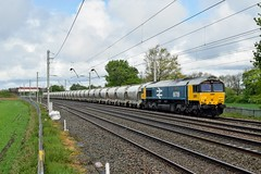 66789 6V35 Winwick Quay (cmc_1987) Tags: 66789 br britishrailclass66 britishrail class66 shed gbrf gbrailfreight largelogo winwick 6v35 clitheroe avonmouth cement railfreight wcml locomotive train diesel jt42cwr