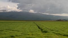 Armenian Farmland (cowyeow) Tags: armenia caucuses mountain field nature hillside composition road highway roadtrip travel sky clouds pasture farm farmland