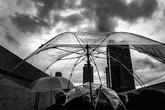 DSC00952A Urban space (soyokazeojisan) Tags: japan osaka city street people sky umbrella bw blackandwhite monochrome digital sony rx100ⅵ may 2019