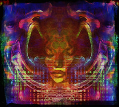 Persephone (Mark Noack) Tags: light color photoshop layer layering surreal expressionism abstract psychedelic futurist abstraction