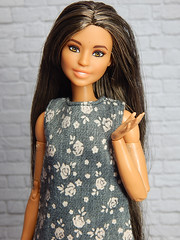 My girl Henna (Levitation_inc.) Tags: ooak doll dolls barbie made move mtm m2m body henna levitation levitationfashion handmade clothes dress floral flowers spring boho 2019 photography