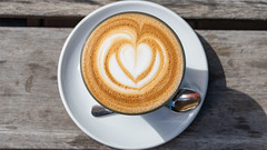 Latte Coffee Pattern, Fitzroy Gardens Cafe, Melbourne, 18 March 2019 (1) (BaggieWeave) Tags: australia fitzroygardens lattecoffeepattern melboune victoria melbourne
