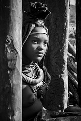 Namibia Kaokoland (FrancescaBullet) Tags: namibia africa lights contrast blackwhite bn mum baby people ethnicity person human tribe face portrait