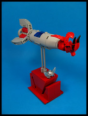 Viking Longship (Karf Oohlu) Tags: lego moc scifi microscale microspacetopia spaceship longship viking desktoptoy