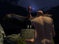 Vultures (Tevor Z) Tags: secondlife hotelcalifornia vultures nude naked rocks ocean sea ruins virtualworld