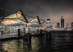 Battery Park City Ferry Terminal (onefivefour) Tags: newyork nyc nighttime night city