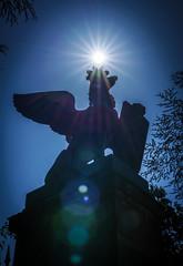 Sonnenkrone (KaAuenwasser) Tags: greif karlsruhe krone sonne sonnenstern stern strahlen mühlburgertor tor historisch himmel blau