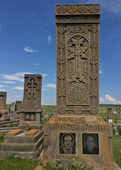 Noratus Cemetery (cowyeow) Tags: lakesevan armenia caucuses sevan travel composition culture design old cemetery carving cross crosses faith christianity orthodoxchristianity noratus noratuscemetery tombstone dead death beautiful