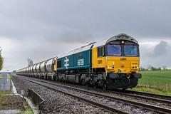 66789 at Wadborough [6V35] 02.05.2019 (Wolfie2man) Tags: 66789 gbrf class66 largelogo britishrail wadborough worcestershirerailways ukrailways railfreight hansonscement tankers
