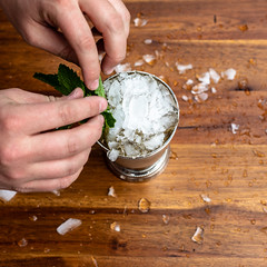 Mint Julep Step 7 (Chase Hoffman) Tags: mojito eos denver colorado color chasehoffmanphotography chasehoffman fall autumn canon 5dmarkiv 5dmkiv canoneos5dmarkiv food sigma50mmf14dghsmart normal 50mm cocktail drink mint bourbon whiskey mintjulep ice