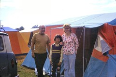 463_HarryAndyHilaryShambaCampsite1973 (wrightfamilyarchive) Tags: harry andy hilary wright 1973 1970s 70s seventies shamba camping site new forest ringwood tent tents family