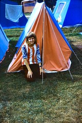 461_PaulWrightShambaCampsite1973 (wrightfamilyarchive) Tags: paul wright 1973 1970s 70s seventies shamba camping site new forest ringwood tent tents grass