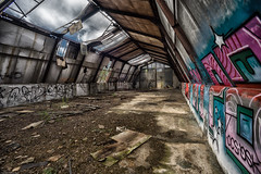 Airport Schoenwalde hangar (michael_obst) Tags: airport military russian 3rdreich brandenburg germany abandoned relict building hangar tamron oldglass adaptall2
